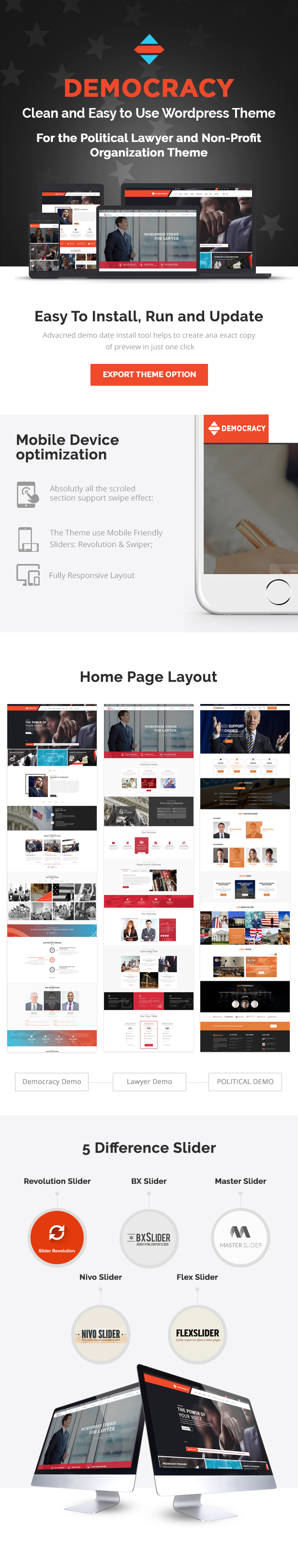 Political and Lawyer wordpress theme