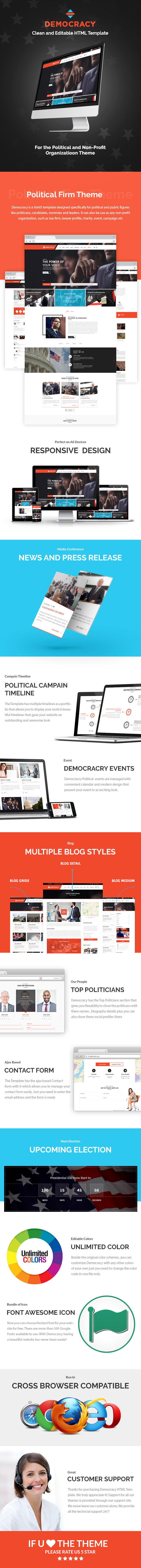 democracy political html theme