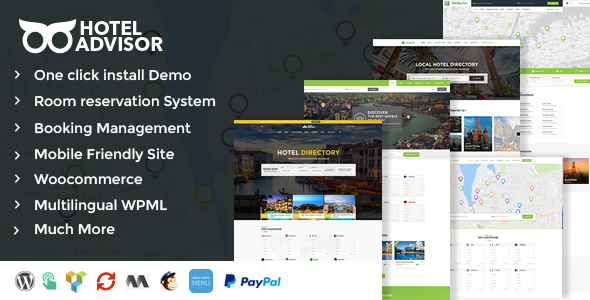 Hotel advisor WordPress theme