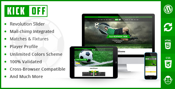 Kickoff Sport WordPress theme