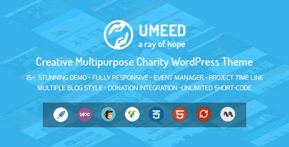 umeed charity wordpress theme