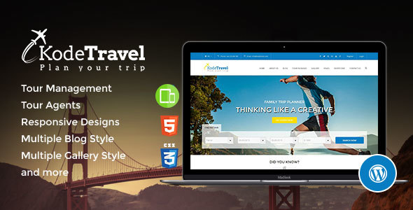 travel and tourism wordpress theme