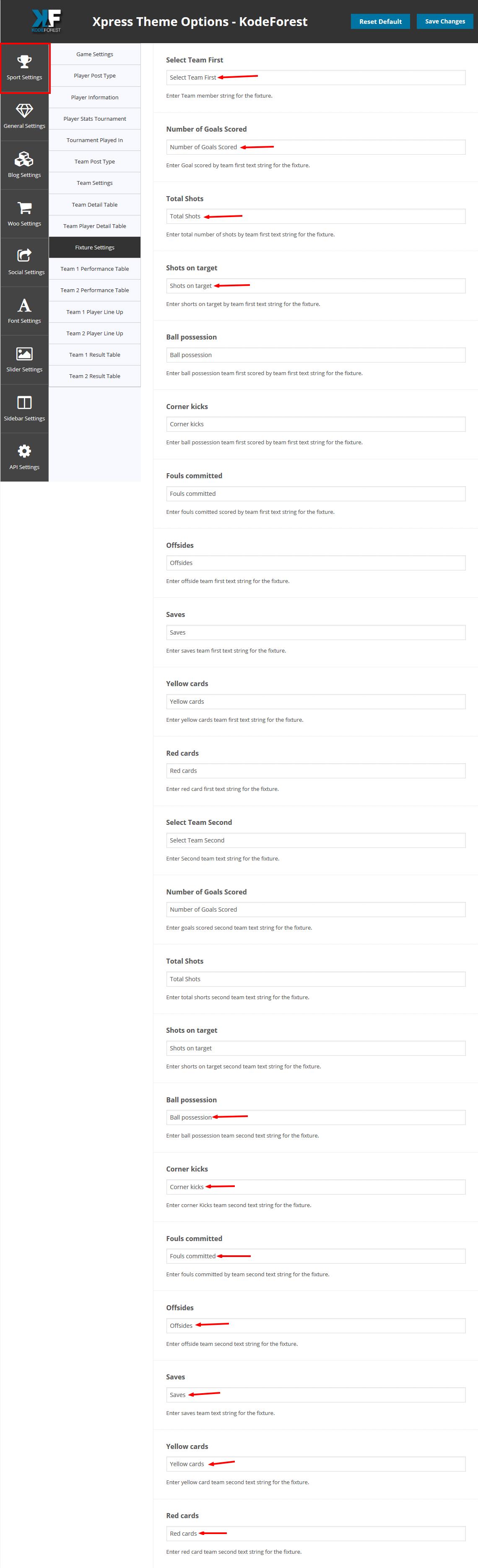 fixture-settings