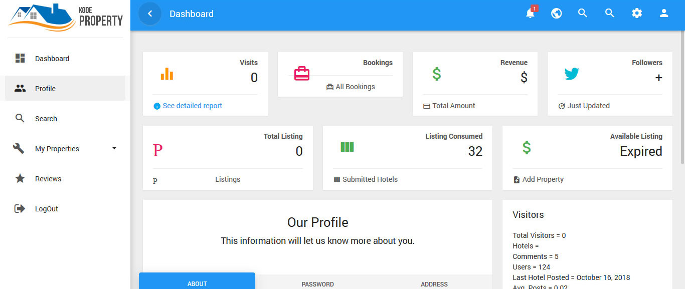 User Profile Panel