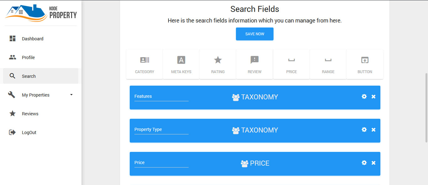 Create Search Filter from User Panel