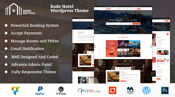 Single hotel WordPress Theme